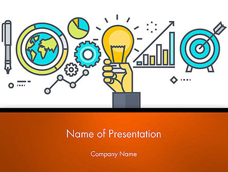 Business Concepts: Business Process Workflow PowerPoint Template #14593