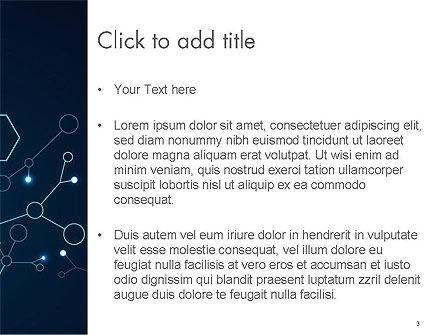 Connected Hexagons PowerPoint Template, Slide 3, 14594, Abstract/Textures — PoweredTemplate.com