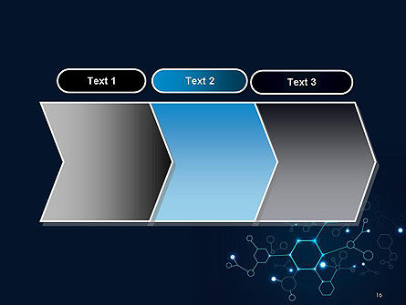Connected Hexagons PowerPoint Template Slide 16