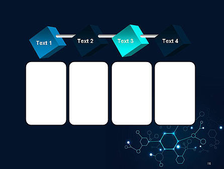 Connected Hexagons PowerPoint Template Slide 18