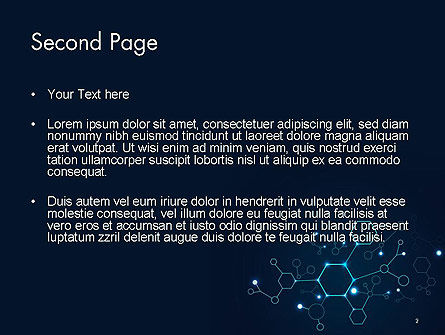 Connected Hexagons PowerPoint Template, Slide 2, 14594, Abstract/Textures — PoweredTemplate.com