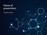 Abstract/Textures: Connected Hexagons PowerPoint Template #14594