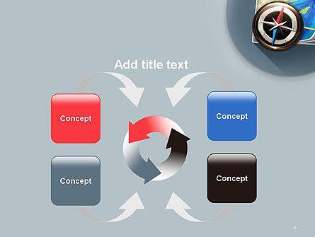 Navigation Map PowerPoint Template Slide 6