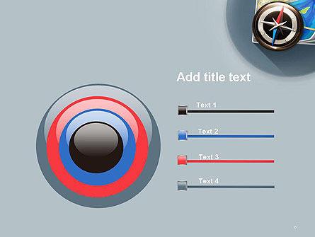 Navigation Map PowerPoint Template Slide 9