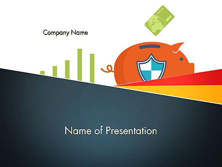 Financial/Accounting: Money Safety PowerPoint Template #14597