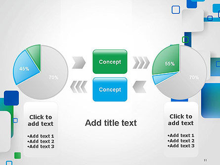 Abstract Overlap Squares PowerPoint Template Slide 11
