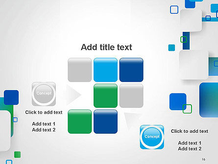 Abstract Overlap Squares PowerPoint Template Slide 16