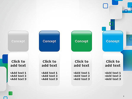 Abstract Overlap Squares PowerPoint Template Slide 5
