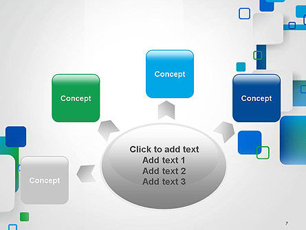 Abstract Overlap Squares PowerPoint Template Slide 7