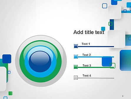 Abstract Overlap Squares PowerPoint Template Slide 9