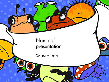 Education & Training: Cute Monsters PowerPoint Template #14599