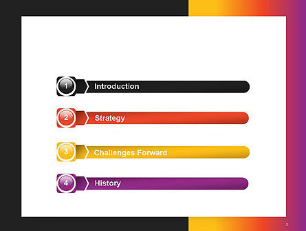Abstract Gradient Background PowerPoint Template Slide 3