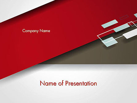 Flat Diagonal Shapes PowerPoint Template