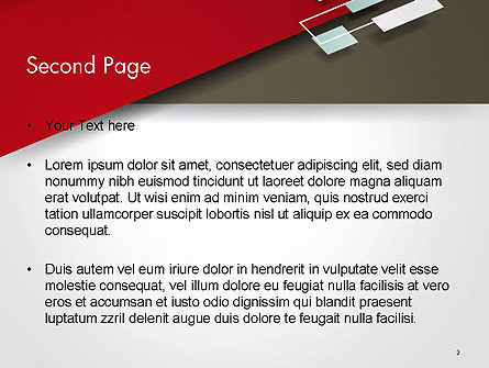Flat Diagonal Shapes PowerPoint Template, Slide 2, 14603, Abstract/Textures — PoweredTemplate.com