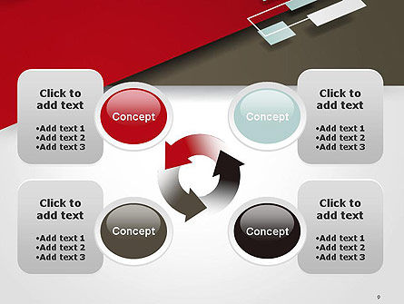 Flat Diagonal Shapes PowerPoint Template Slide 9