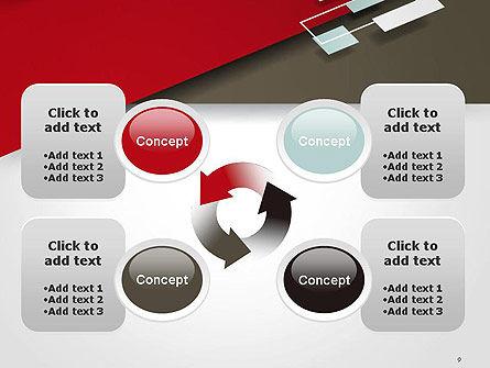 Flat Diagonal Shapes PowerPoint Template Slide 9