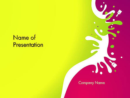 Abstract/Textures: Colorful Splash PowerPoint Template #14604