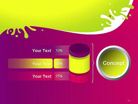 Colorful Splash PowerPoint Template Slide 11