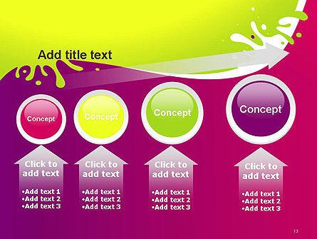Colorful Splash PowerPoint Template Slide 13