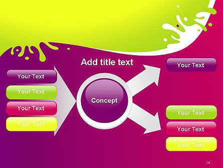 Colorful Splash PowerPoint Template Slide 14