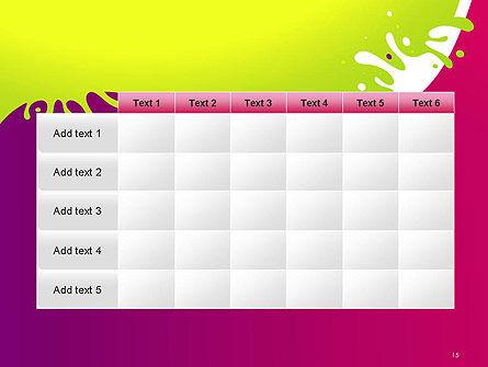 Colorful Splash PowerPoint Template Slide 15
