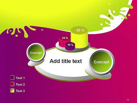 Colorful Splash PowerPoint Template Slide 16