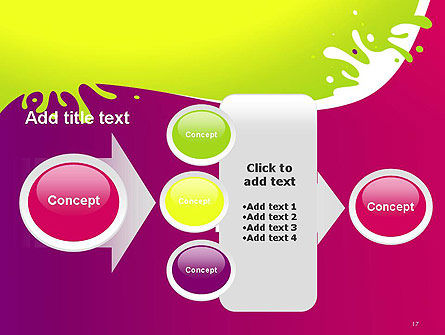 Colorful Splash PowerPoint Template Slide 17