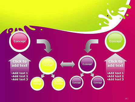 Colorful Splash PowerPoint Template Slide 19