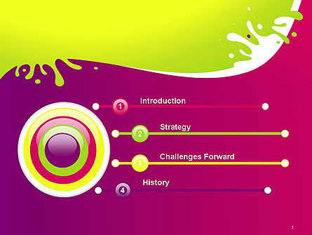 Colorful Splash PowerPoint Template, Slide 3, 14604, Abstract/Textures — PoweredTemplate.com