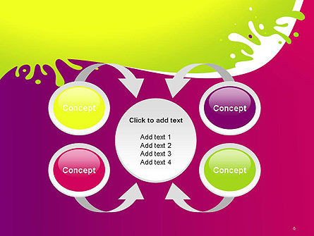 Colorful Splash PowerPoint Template Slide 6