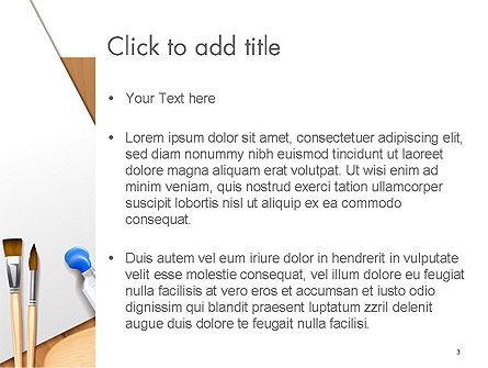 Artist's Accessories PowerPoint Template, Slide 3, 14605, Art & Entertainment — PoweredTemplate.com