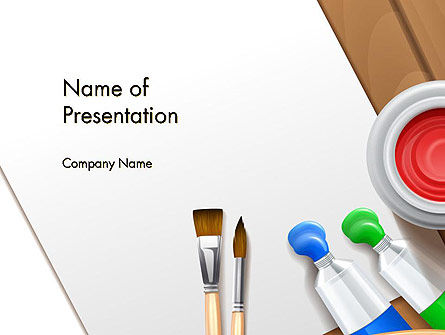 Art & Entertainment: Artist's Accessories PowerPoint Template #14605