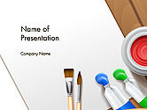 Art & Entertainment: Plantilla de PowerPoint - accesorios del artista #14605