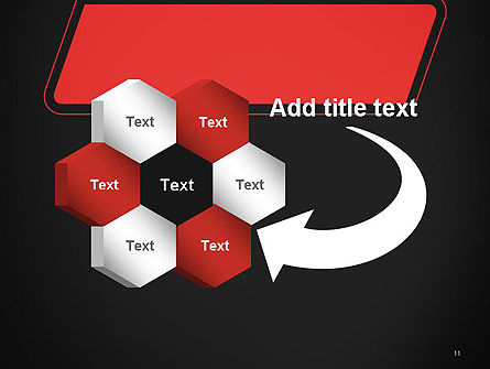 Rounded Red Shape PowerPoint Template Slide 11