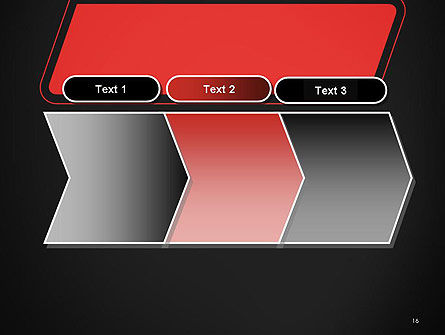 Rounded Red Shape PowerPoint Template Slide 16