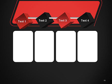 Rounded Red Shape PowerPoint Template Slide 18
