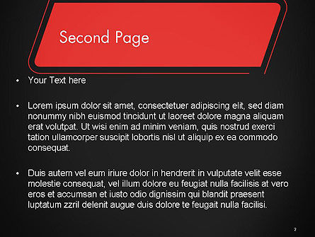 Rounded Red Shape PowerPoint Template Slide 2