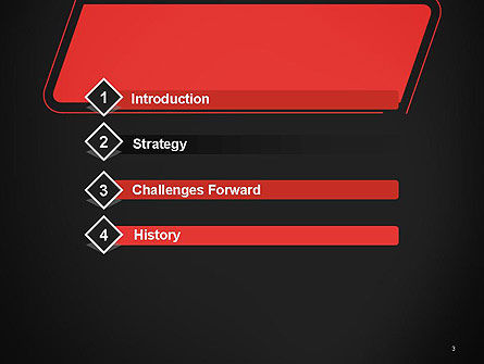 Rounded Red Shape PowerPoint Template Slide 3