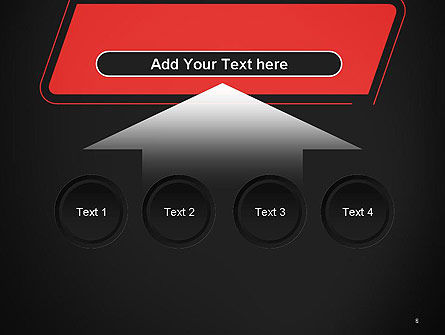 Rounded Red Shape PowerPoint Template Slide 8