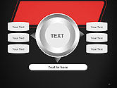 Rounded Red Shape PowerPoint Template#12