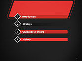 Rounded Red Shape PowerPoint Template#3