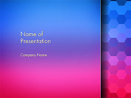 Abstract/Textures: Gradient Background with Hexagon Pattern PowerPoint Template #14607