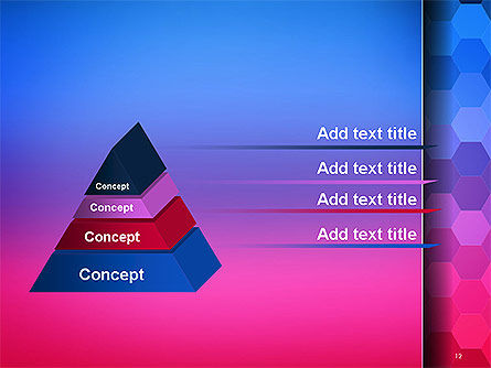 Gradient Background with Hexagon Pattern PowerPoint Template Slide 12