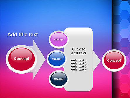 Gradient Background with Hexagon Pattern PowerPoint Template Slide 17