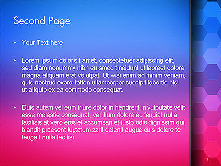 Gradient Background with Hexagon Pattern PowerPoint Template Slide 2