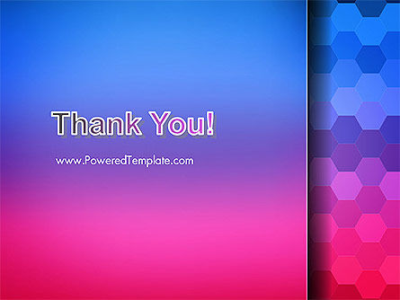 Gradient Background with Hexagon Pattern PowerPoint Template Slide 20