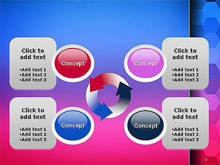 Gradient Background with Hexagon Pattern PowerPoint Template Slide 9