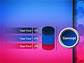 Gradient Background with Hexagon Pattern PowerPoint Template#11
