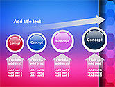 Gradient Background with Hexagon Pattern PowerPoint Template#13