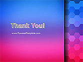 Gradient Background with Hexagon Pattern PowerPoint Template#20